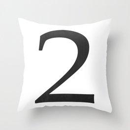 Number 2 (Black) Throw Pillow