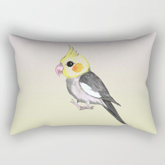 Very cute cockatiel Rectangular Pillow