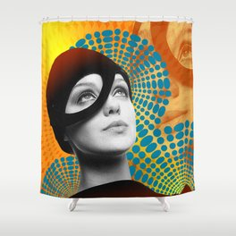 Supermodel Donna 2 - Supermodels of the Sixties Series Shower Curtain