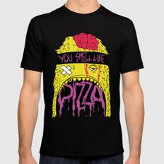 You Smell like Pizza Mens Fitted Tee SMALL Black