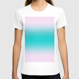Pink Lace to Cyan Bilinear Gradient T-shirt