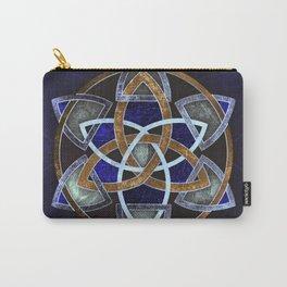 Golden Triskelion Mandala Carry-All Pouch