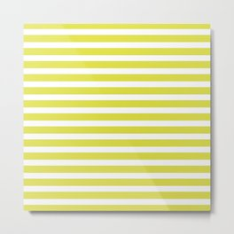 Pastel Yellow Stripes Metal Print