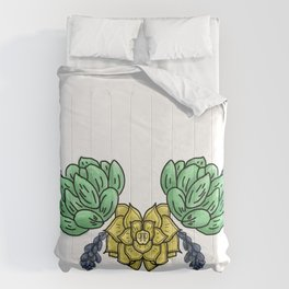 cacti and flowers ( https://society6.com/totalflora/collection ) Comforters