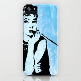 Audrey in Blue iPhone Case