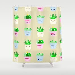 succulent 1 Shower Curtain