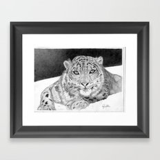 Snowy Framed Art Print