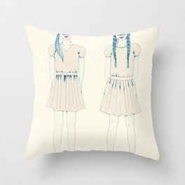 girl-16 Throw Pillow