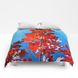 Red Maple Leaves Comforters