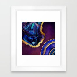 Agate Abstract Framed Art Print