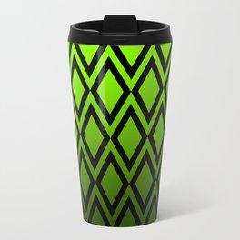 Graduated Vibrant Emerald Green Diamonds Travel Mug