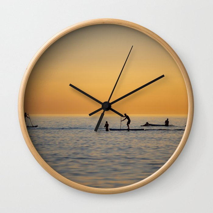 Water sports stand up paddling Wall Clock