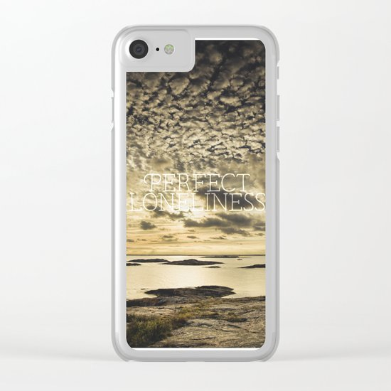 My perfect loneliness Clear iPhone Case