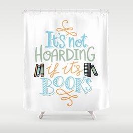 Hoarding Books Summer Colors Shower Curtain