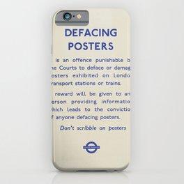 Vintage London Underground Notice iPhone Case
