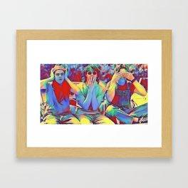 Dazed and Confused x flora Framed Art Print