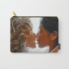 9705  Two Woman Kissing Sensual Erotic Fractal Art by Chris Maher Carry-All Pouch