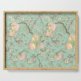 Peaches and Blossoms Serving Tray