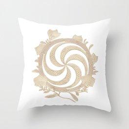 Bracquemond Spiral 1873 Throw Pillow