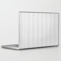 herringbone Laptop & iPad Skins featuring Herringbone DIY by Project M