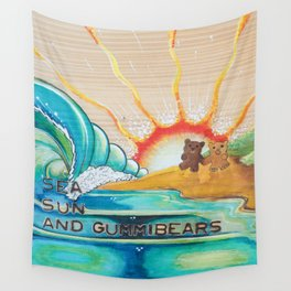 Sea, Sun and Gummibears Wall Tapestry