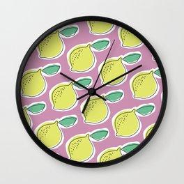 lemony Wall Clock