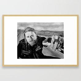 """Jax Teller"" Sons of anarchy Framed Art Print"