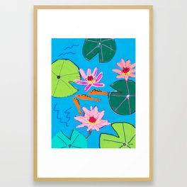 Fish Pond Framed Art Print