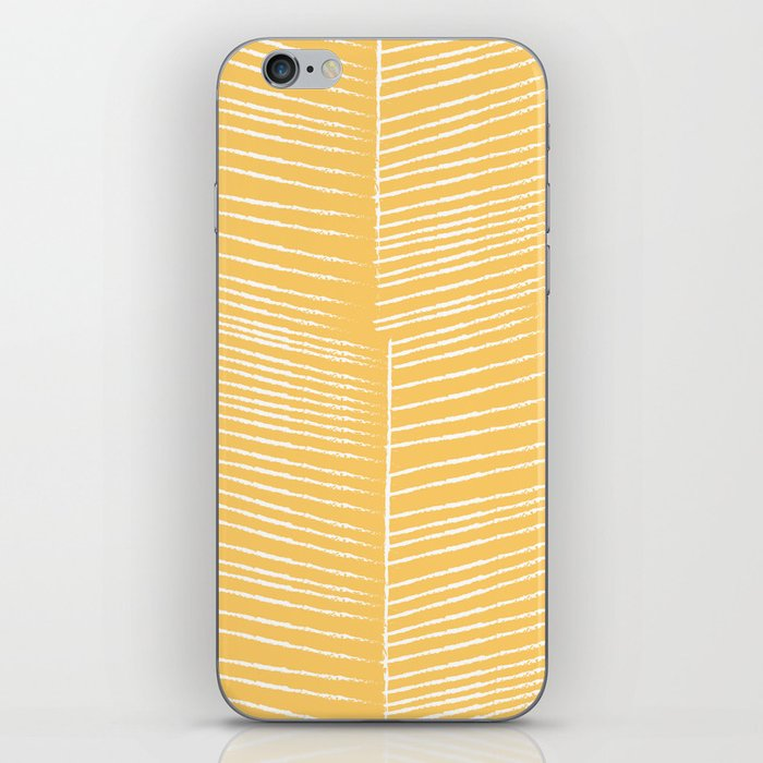 Herringbone - Marigold iPhone Skin