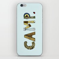 camp iPhone & iPod Skins featuring CAMP. by AnnieInk
