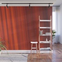 Red & Orange Sunset Stripes Wall Mural