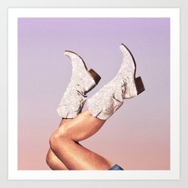 These Boots - Glitter Miami Vibes Art Print
