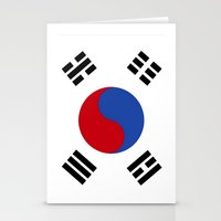 korean Stationery Cards featuring South Korean Flag  by Laura Ruth