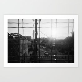 Sun going down in Brooklyn 35mm Art Print