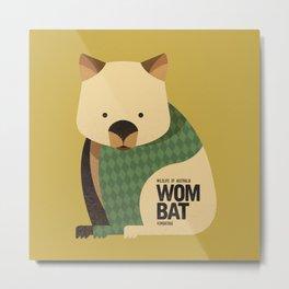 Hello Wombat Metal Print