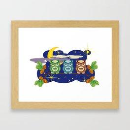 Three little owls Framed Art Print