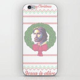 Jesus is alive Christmas | xmas Ugly Gift Tshirt T-Shirt iPhone Skin