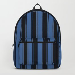 Blues nautical geometric vertical lines pattern for home decoration Backpack