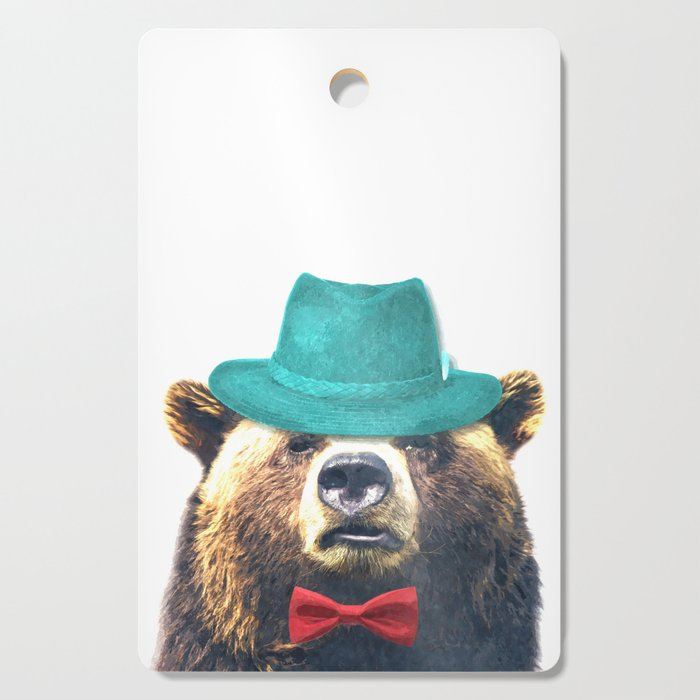Funny Bear Illustration Cutting Board