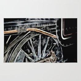 Manipulated Steam Train Image Rug