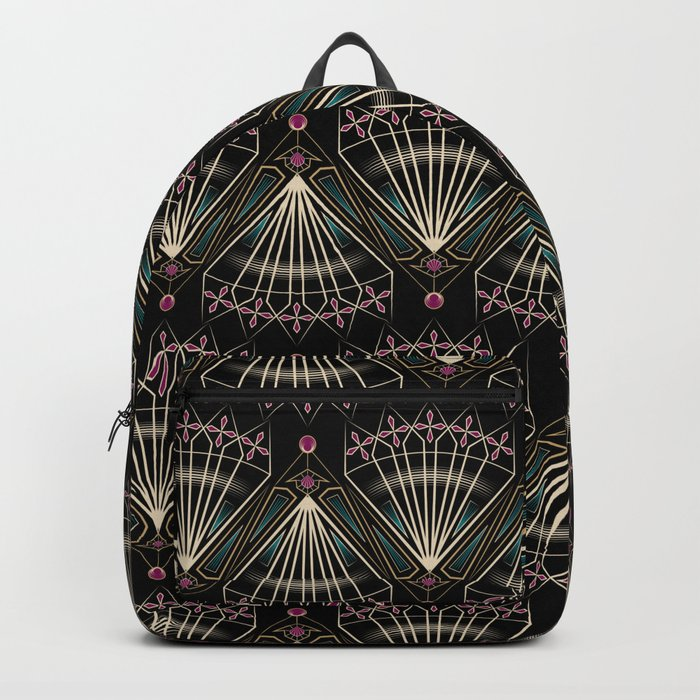 "Art Deco . ""Venice "". Backpack"