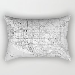Anchorage Alaska Map (1994) BW Rectangular Pillow