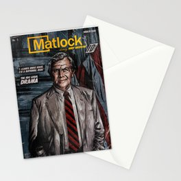 MATLOCK - TV Show Comic Poster Stationery Cards
