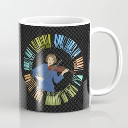 Violin Wreath Coffee Mug