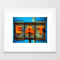 eat Framed Art Prints featuring Eat by Squint Photography