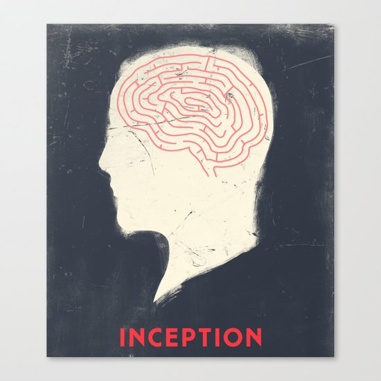 Inception - Movie Poster Canvas Print