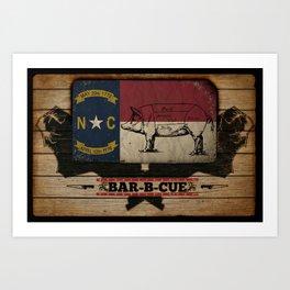 NC BBQ Art Print