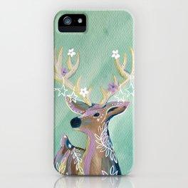 Starry deer iPhone Case