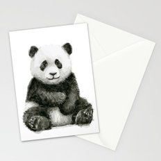 Panda Baby Watercolor Animal Art Stationery Cards