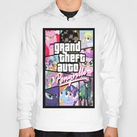 grand theft auto Hoodies featuring My little grand theft by eatpersonality